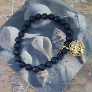 Origami owl black and gold scent bracelet